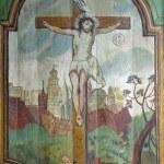 Jesus crucified on the cross — Stock Photo