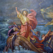 Jesus Calms a Storm on the Sea — Stok fotoğraf