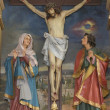 Crucifixion, Blessed Virgin Mary and Saint John under the cross — Stock Photo