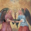 Angels, Door of the tabernacle — Stock Photo