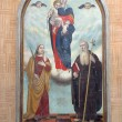 Virgin Mary, Saint Fosca and Saint Anthony the Great — Stock Photo