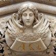 Angel on the portal of Zagreb cathedral - Stock Photo