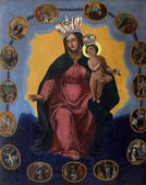 Blessed Virgin Mary Queen of the Holy Rosary — Stock Photo