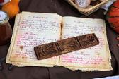 Starą książkę kucharską — Zdjęcie stockowe