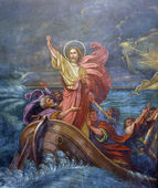 Jesus Calms a Storm on the Sea — Stock Photo