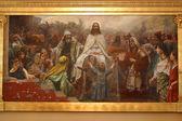 Jesus' triumphal entry into Jerusalem — Stock Photo