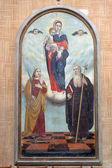 Virgin Mary, Saint Fosca and Saint Anthony the Great — Stock Photo