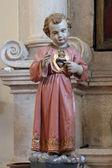 Niño jesús de praga, sagrado corazón — Foto de Stock