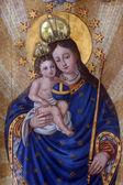 пресвятой девы марии с младенцем иисусом — Стоковое фото