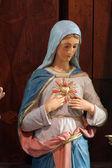 圣母无玷圣心玛丽 — 图库照片