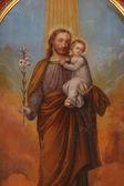 Celebración san josé niño jesús — Foto de Stock