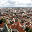 Aerial view of Zagreb, the capital of Croatia — Foto de Stock