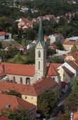 Zagreb-St. Francis of Assisi church — Stockfoto