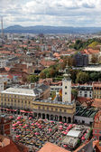 Aerial view of Zagreb, the capital of Croatia — Stock Photo