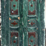 Traditional door from Sidi Bou Said, Tunis — Stock Photo #15316049
