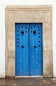 Traditional door from Sidi Bou Said, Tunis — Stock Photo