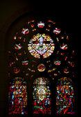Witraże w katedrze w st vincent de paul w tunisie — Zdjęcie stockowe