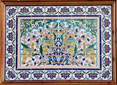Panel s květinovými a architektonické motivy — Stock fotografie