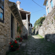 Street in Hum the smallest city in the world, Istra, Croatia — Stock Photo