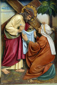 Veronica wipes the face of Jesus — Stock Photo