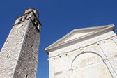 Church in the city Vizinada, Istria, Croatia — Foto de Stock