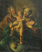 Holy Family with baby Jesus — Stock Photo