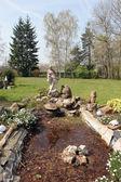 Peaceful garden — Stock Photo