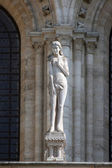 Statue of Eve, Notre Dame Cathedral, Paris — 图库照片