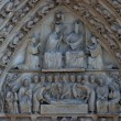 Notre Dame Cathedral, Paris. The Portal of the Virgin — Stock Photo