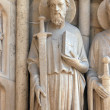Stock Photo: Saint Paul, Notre Dame Cathedral, Paris, Portal of the Virgin