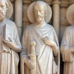 Saint James the Great, Notre Dame Cathedral, Paris, Last Judgment Portal — Stock Photo #15346857