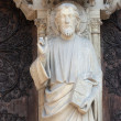 Stock Photo: Notre Dame Cathedral, Paris Last Judgment Portal: Christ Teaching
