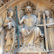 Notre Dame Cathedral, Paris Last Judgment Portal: Christ in Majesty — Stock Photo