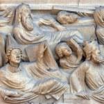Собор Нотр-Дам, Париж страшного суда портал — Стоковое фото