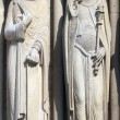 King and Queen of Sheba, Notre Dame Cathedral, Paris, Portal of St. Anne — Stock Photo