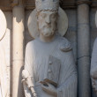 King Solomon, Notre Dame Cathedral, Paris, Portal of St. Anne — Stock Photo