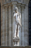 Statue of Adam, Notre Dame Cathedral, Paris — Stock Photo