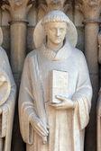 сэйнт стивен, собор нотр-дам, париж, портал девы — Стоковое фото