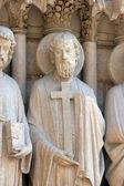 святой филипп, собор нотр-дам, париж, портал девы — Стоковое фото