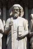 Saint-simon, kathedrale notre dame, paris, jüngste gericht portal — Stockfoto