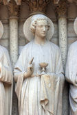 сент-джон, собор нотр-дам, париж, портал страшного суда — Стоковое фото