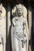 Queen of Sheba, Notre Dame Cathedral, Paris, Portal of St. Anne — Stock Photo