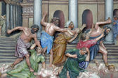 İsa'nın tapınaktan tüccarlar sürüş — Stok fotoğraf