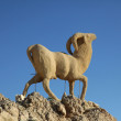 Monument of sheep, Sahara, Chebika, Tunisia — Stok fotoğraf
