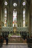 Altar in Zagreb cathedral — Stock Photo