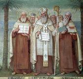 修会圣人、 教会斯特拉 · 马里斯,海法,以色列 — 图库照片