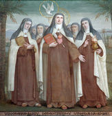 Carmelite Saints, The Church Stella Maris, Haifa, Israel — Stock Photo