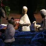 Nativity scene, Tabgha Church of the Multiplication — Stock Photo #15452343