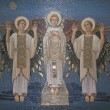 Angels, mosaic, Mount Tabor- Basilica of the Transfiguration - Stock Photo