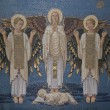 Angels, mosaic, Mount Tabor- Basilica of the Transfiguration — Stock Photo